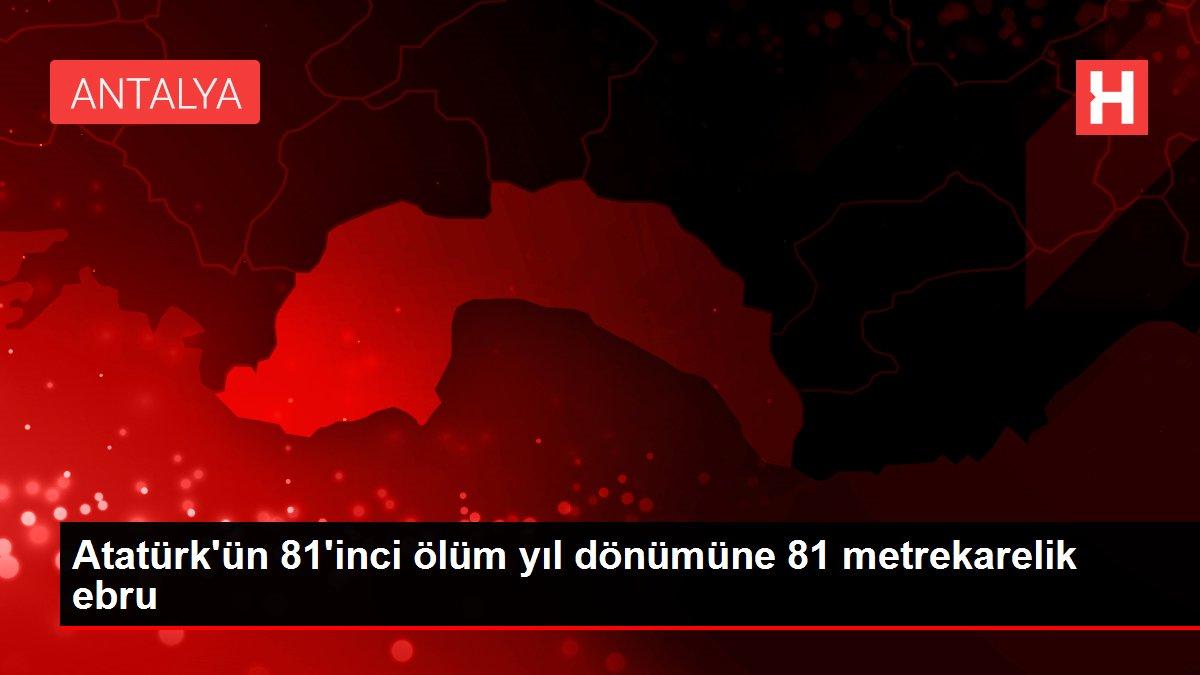 Atatürk'ün 81'inci ölüm yıl dönümüne 81 metrekarelik ebru