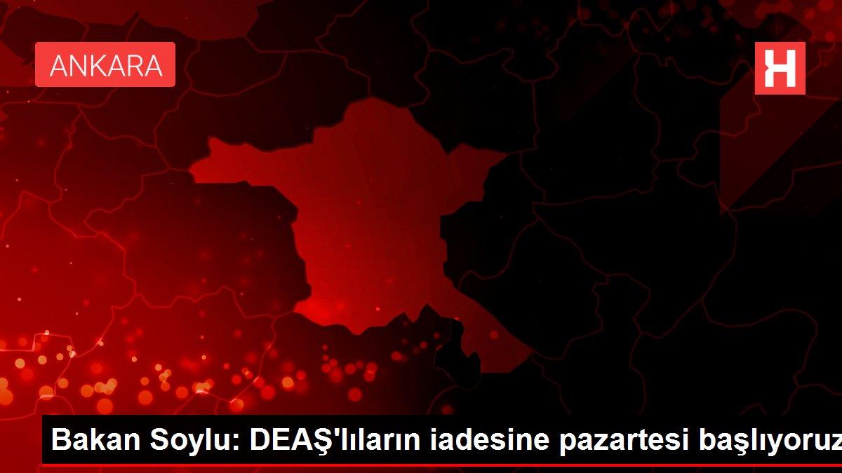 Bakan Soylu: DEAŞ'lıların iadesine pazartesi başlıyoruz