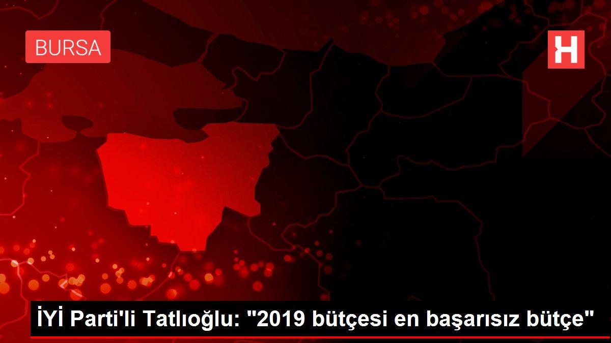 İYİ Parti'li Tatlıoğlu: