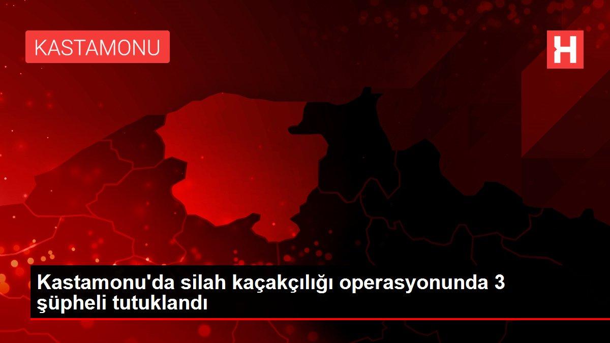 Kastamonu'da silah kaçakçılığı operasyonunda 3 şüpheli tutuklandı