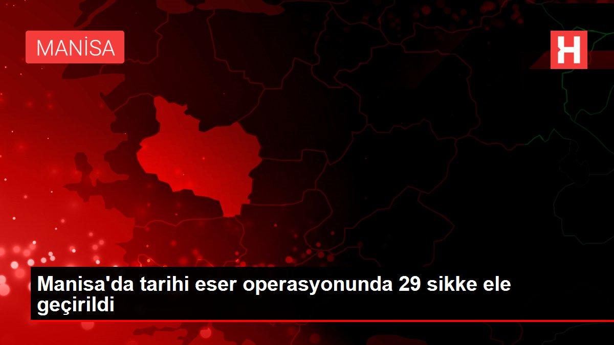 Manisa'da tarihi eser operasyonunda 29 sikke ele geçirildi