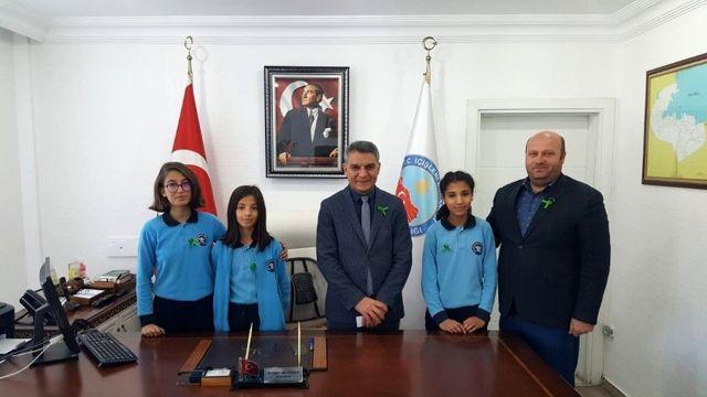 Öğrencilerden Kaymakam Özkan'a ziyaret