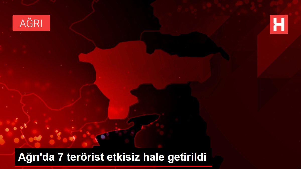 Ağrı'da 7 terörist etkisiz hale getirildi