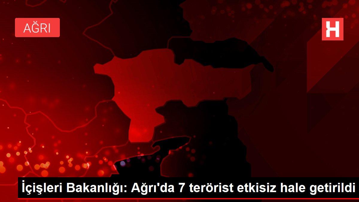 İçişleri Bakanlığı: Ağrı'da 7 terörist etkisiz hale getirildi