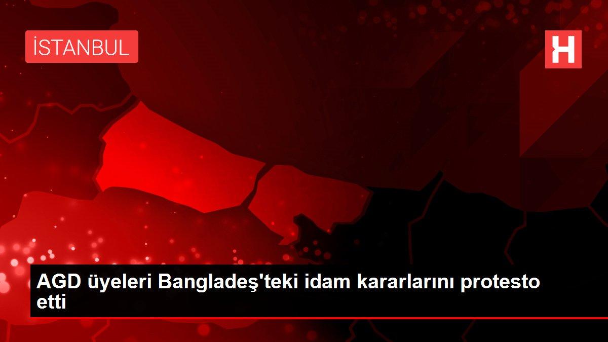 AGD üyeleri Bangladeş'teki idam kararlarını protesto etti