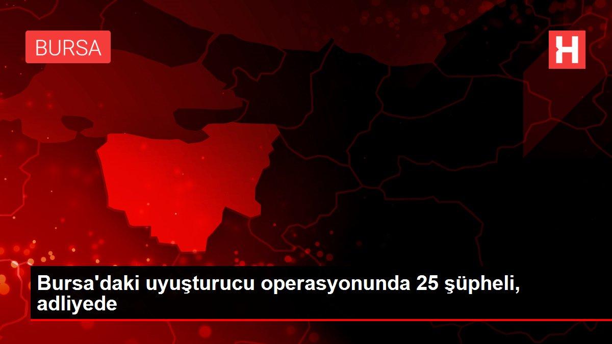 Bursa'daki uyuşturucu operasyonunda 25 şüpheli, adliyede
