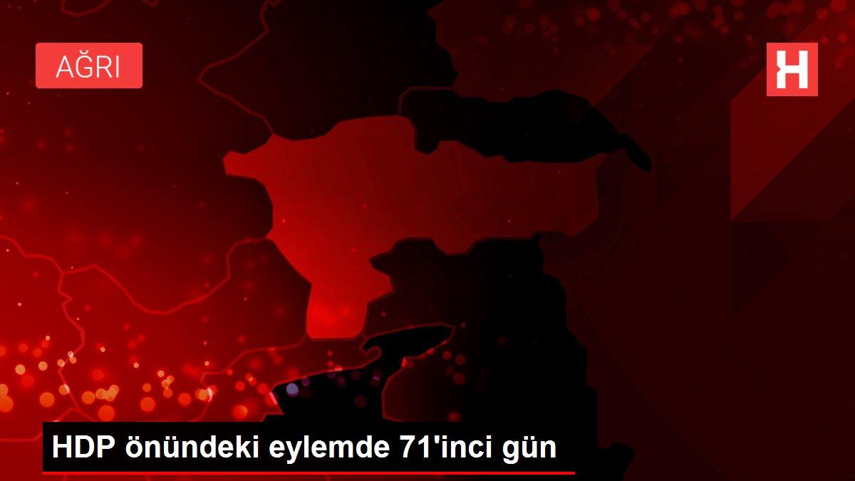 HDP önündeki eylemde 71'inci gün