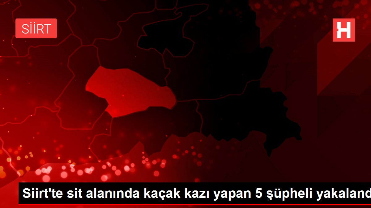Siirt'te sit alanında kaçak kazı yapan 5 şüpheli yakalandı