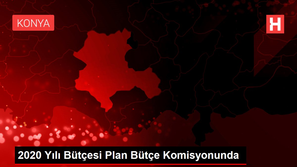 2020 Yılı Bütçesi Plan Bütçe Komisyonunda