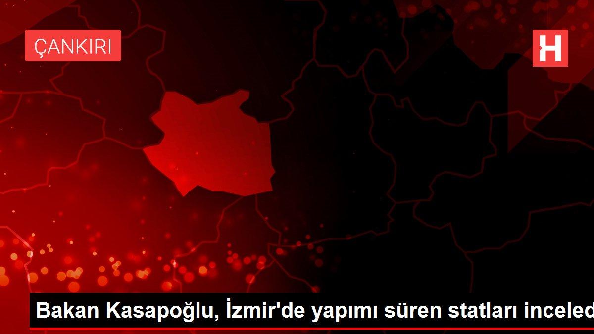 Bakan Kasapoğlu, İzmir'de yapımı süren statları inceledi