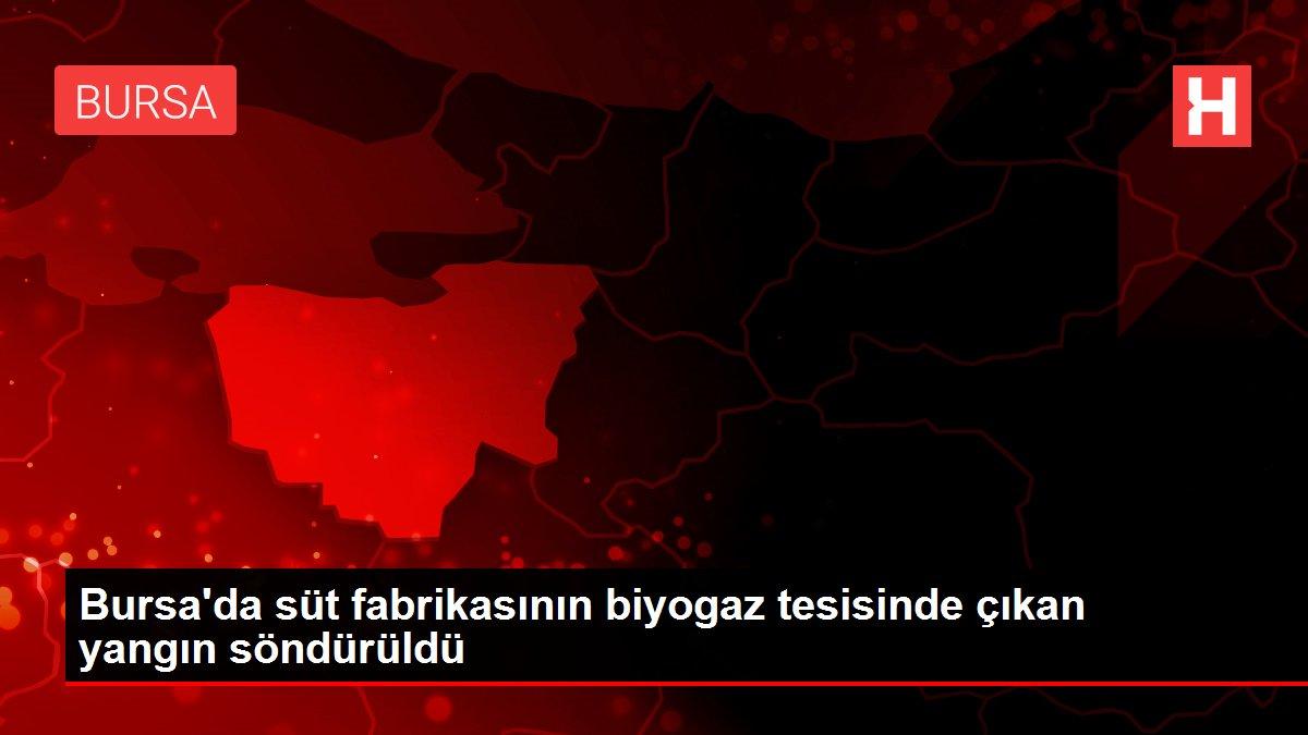 Bursa'da süt fabrikasının biyogaz tesisinde çıkan yangın söndürüldü