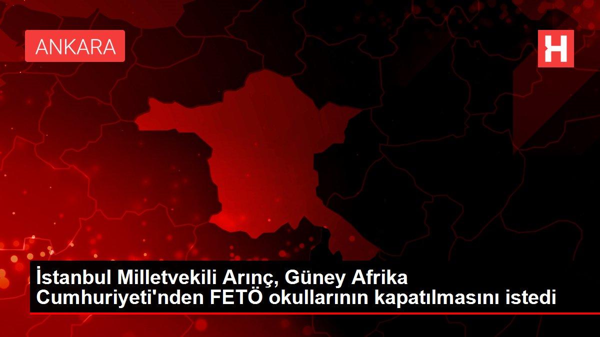 İstanbul Milletvekili Arınç, Güney Afrika Cumhuriyeti'nden FETÖ okullarının kapatılmasını istedi