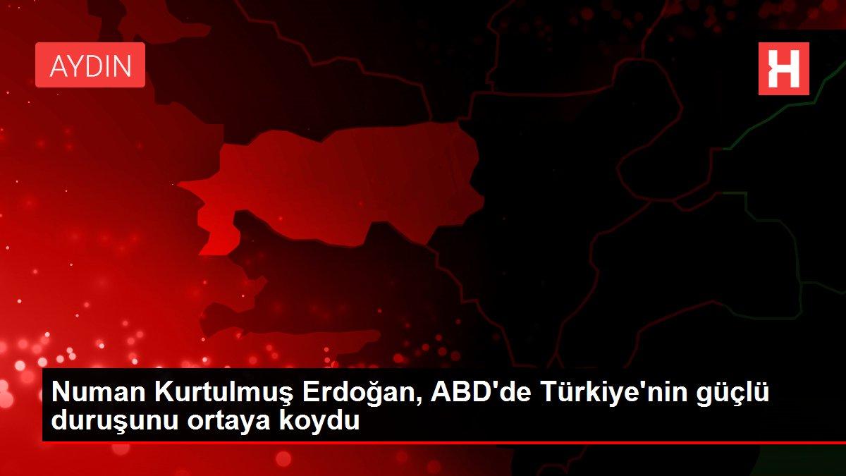 Numan Kurtulmuş Erdoğan, ABD'de Türkiye'nin güçlü duruşunu ortaya koydu