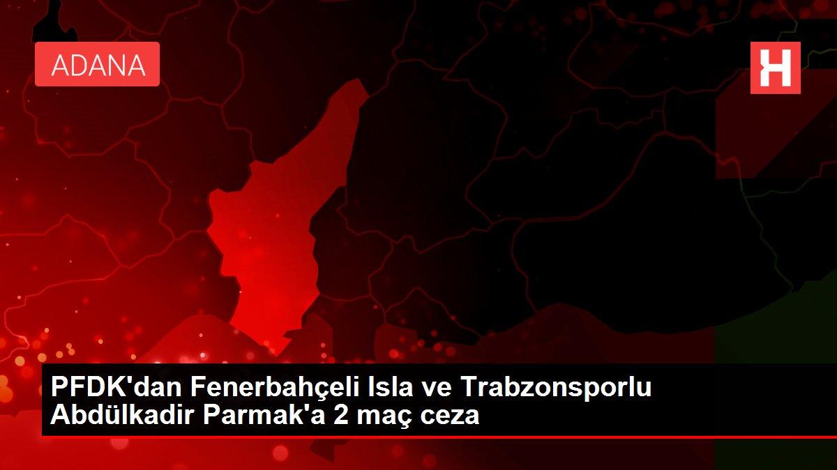 PFDK'dan Fenerbahçeli Isla ve Trabzonsporlu Abdülkadir Parmak'a 2 maç ceza