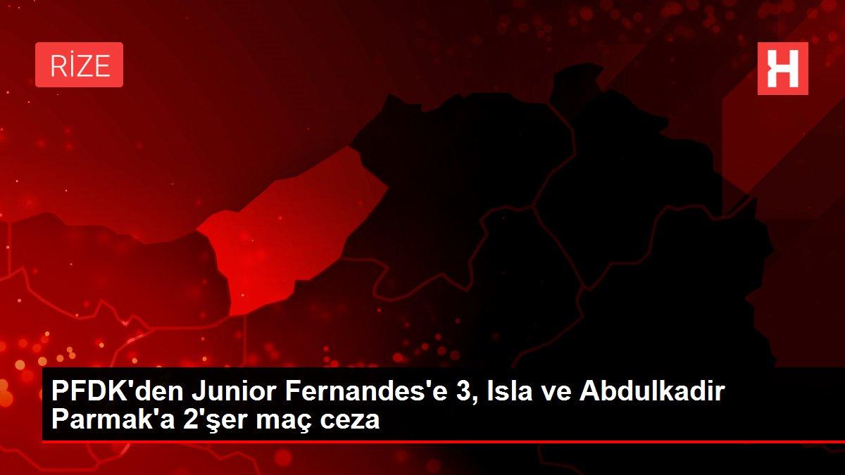 PFDK'den Junior Fernandes'e 3, Isla ve Abdulkadir Parmak'a 2'şer maç ceza