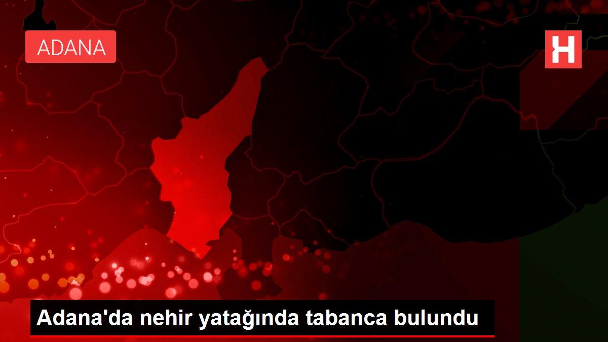 Adana'da nehir yatağında tabanca bulundu