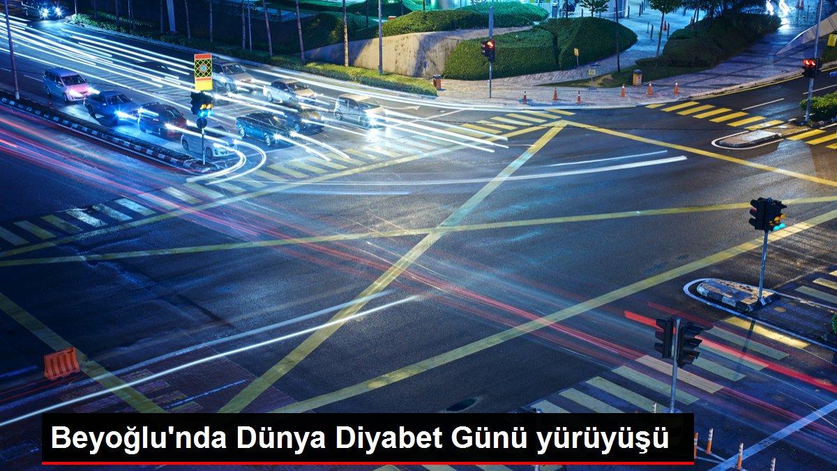 Beyoğlu'nda Dünya Diyabet Günü yürüyüşü