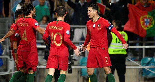 Portekiz Milli Takımı, gol anonsunu asker selamıyla verdi! UEFA şimdi ne yapacak?