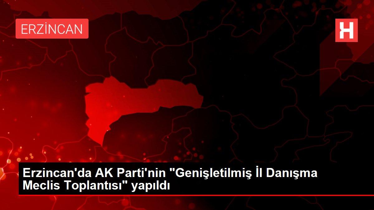 Erzincan'da AK Parti'nin Genişletilmiş İl Danışma Meclis Toplantısı yapıldı