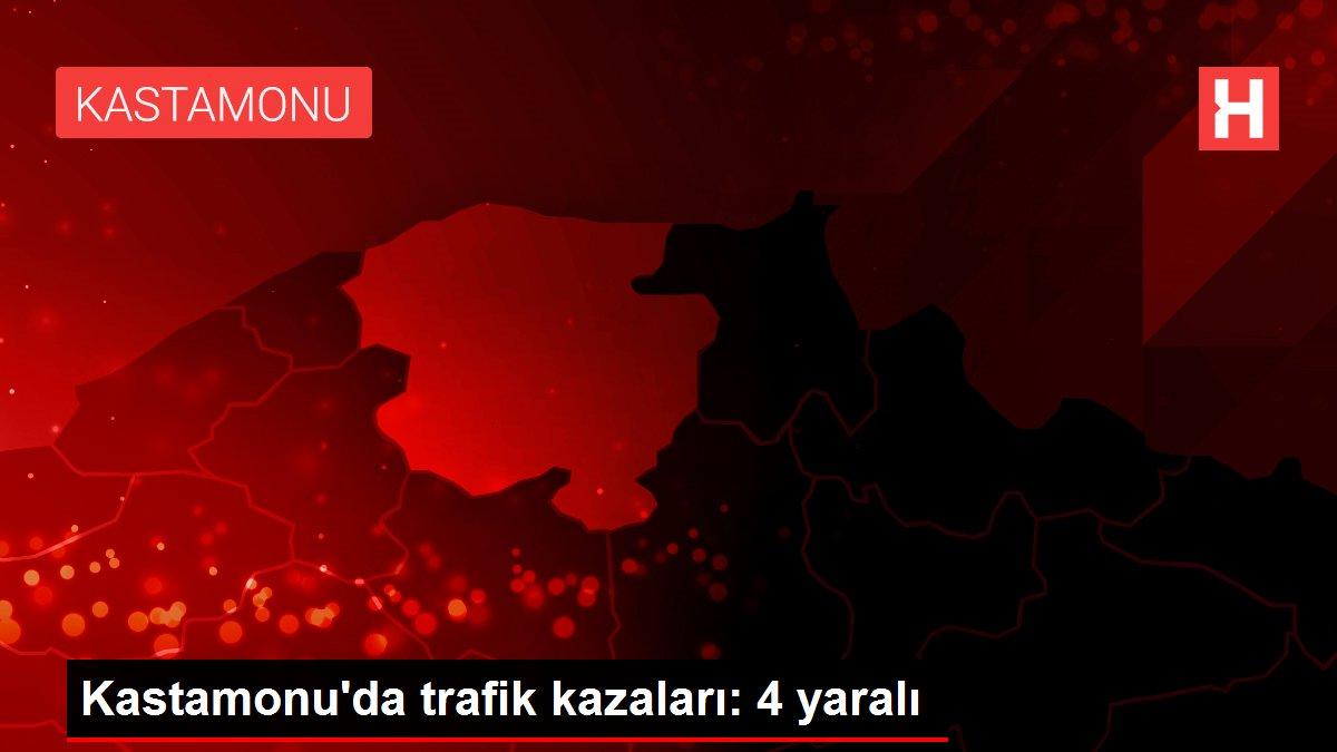 Kastamonu'da trafik kazaları: 4 yaralı