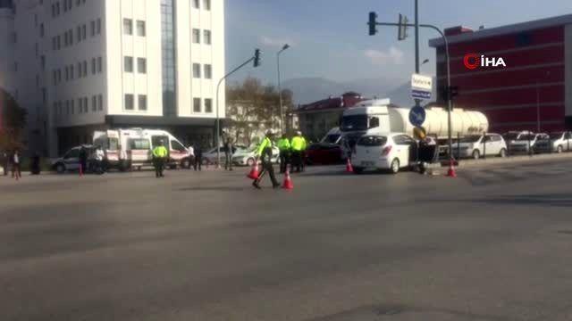 Aynı yerde meydana gelen 2 farklı kazada 4 kişi yaralandı