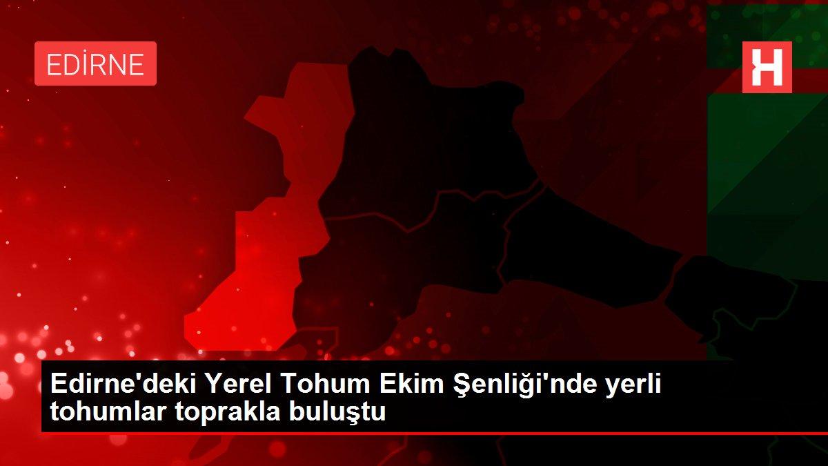 Edirne'deki Yerel Tohum Ekim Şenliği'nde yerli tohumlar toprakla buluştu