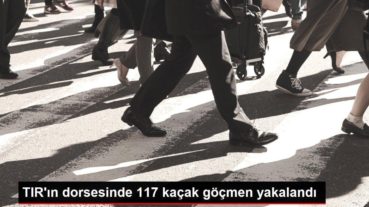 TIR'ın dorsesinde 117 kaçak göçmen yakalandı
