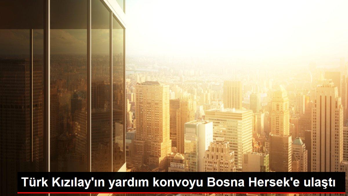 Türk Kızılay'ın yardım konvoyu Bosna Hersek'e ulaştı
