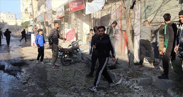 Terör örgütü YPG/PKK Azez'deki sivilleri hedef aldı: 1 ölü, 13 yaralı
