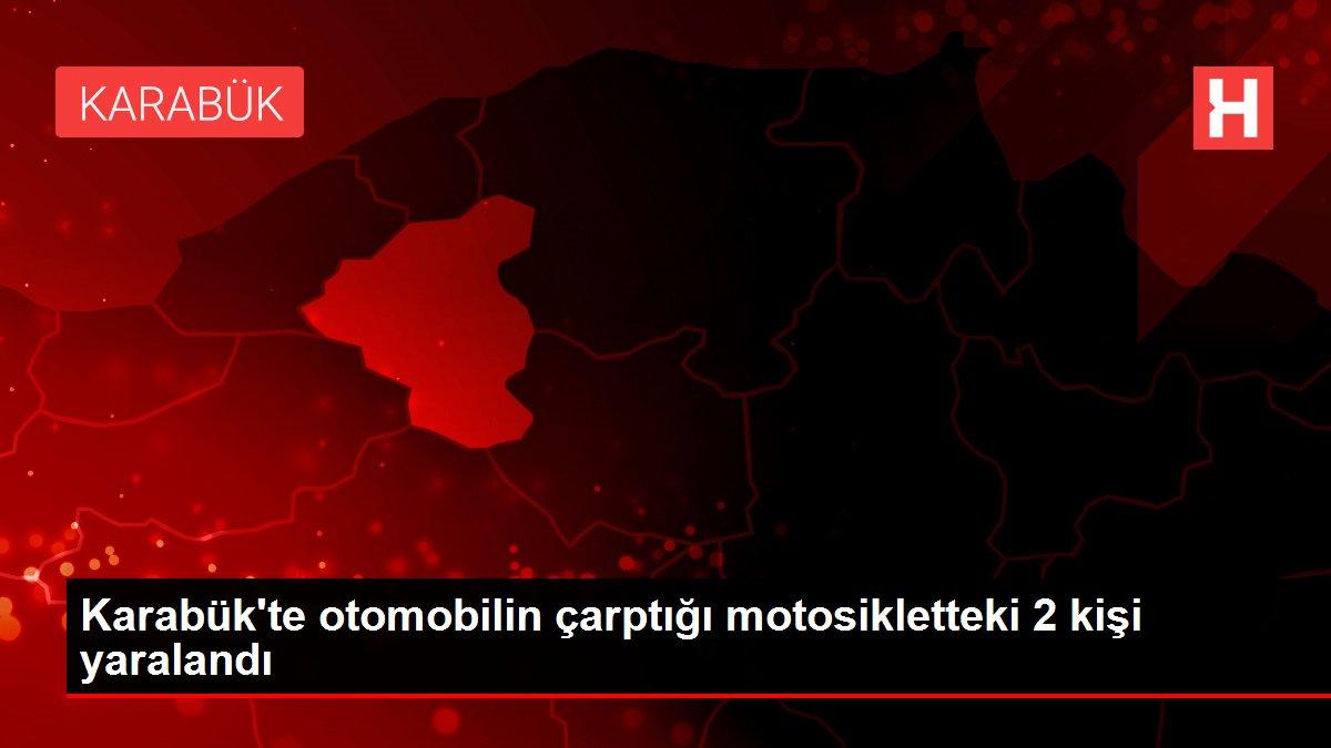 Karabük'te otomobilin çarptığı motosikletteki 2 kişi yaralandı