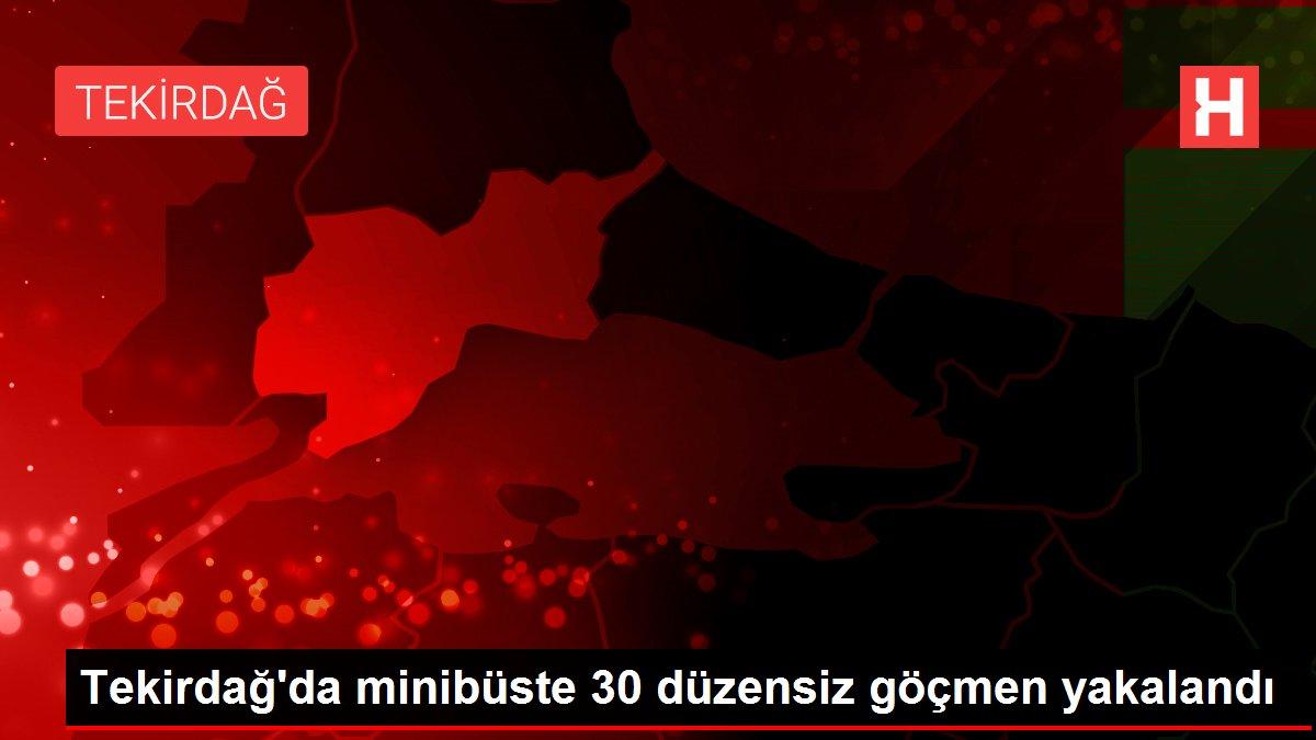 Tekirdağ'da minibüste 30 düzensiz göçmen yakalandı