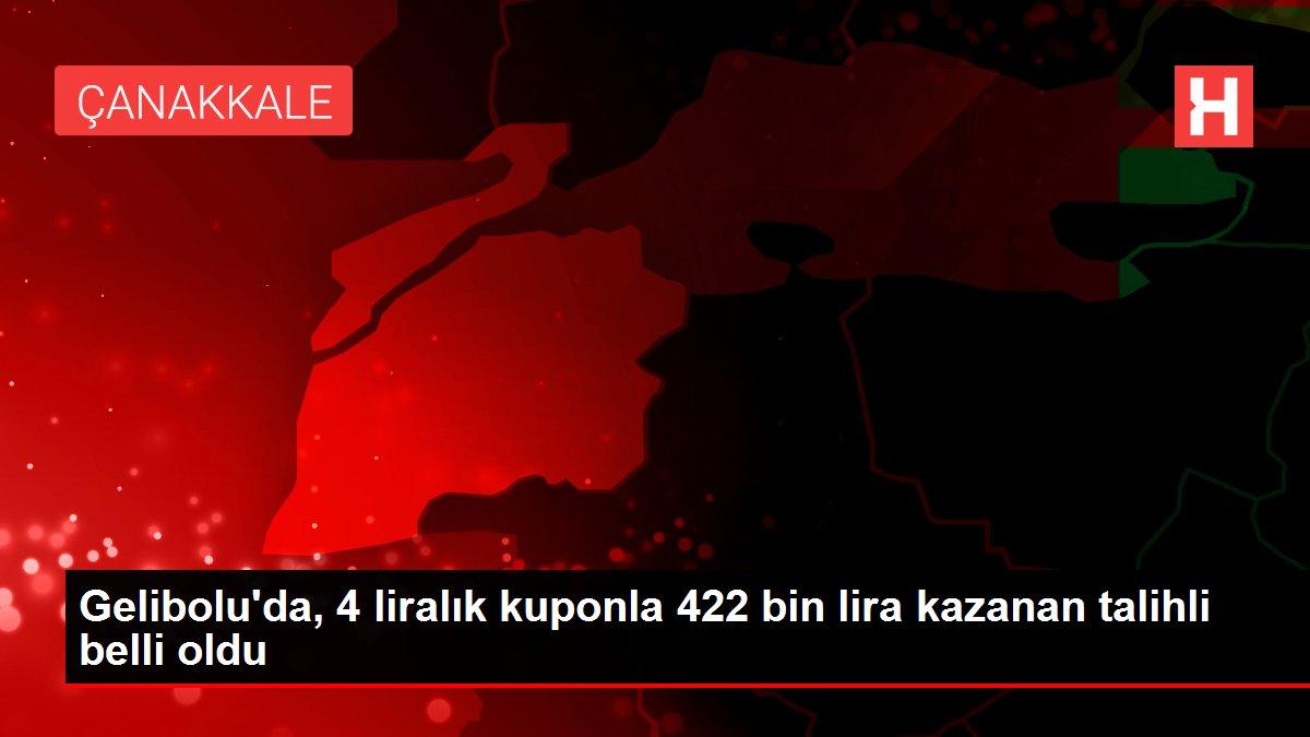 Gelibolu'da, 4 liralık kuponla 422 bin lira kazanan talihli belli oldu