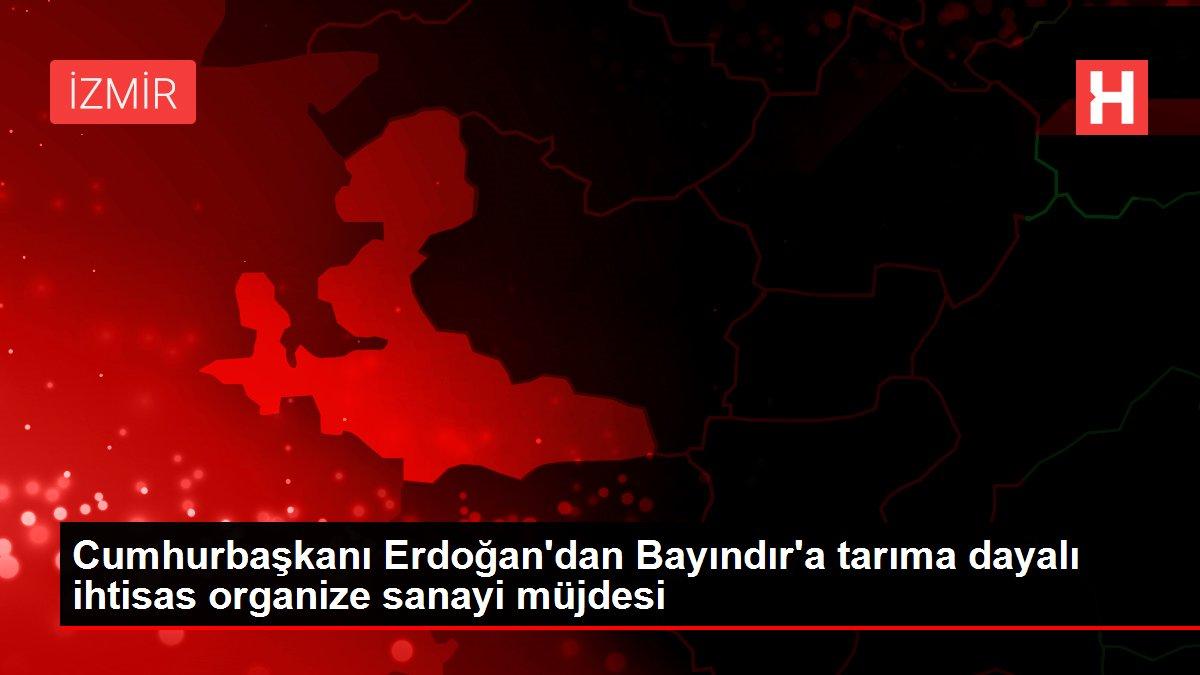 Cumhurbaşkanı Erdoğan'dan Bayındır'a tarıma dayalı ihtisas organize sanayi müjdesi