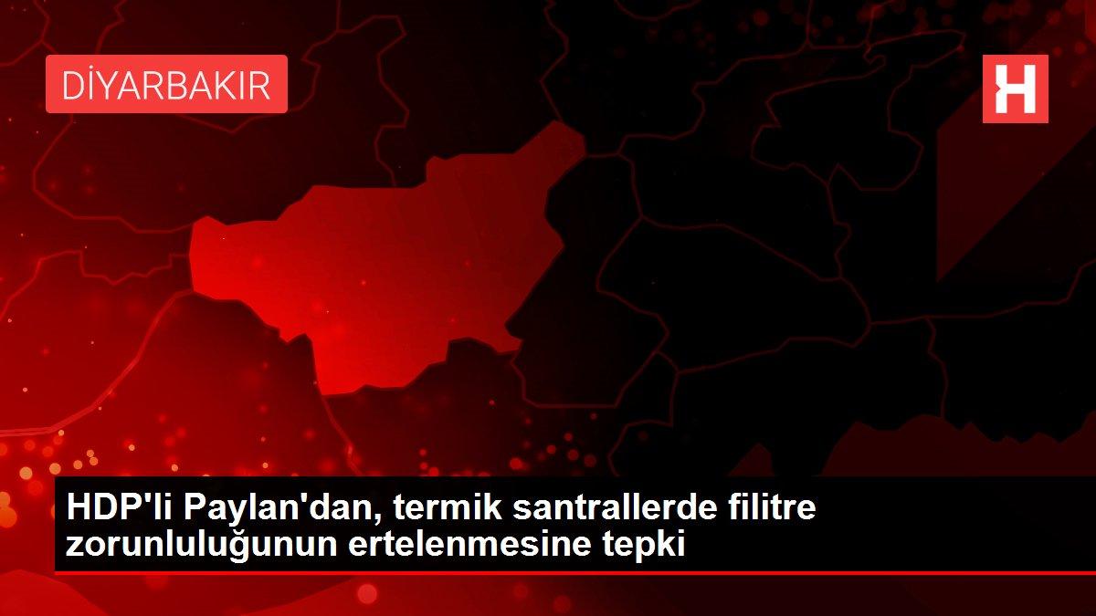 HDP'li Paylan'dan, termik santrallerde filitre zorunluluğunun ertelenmesine tepki