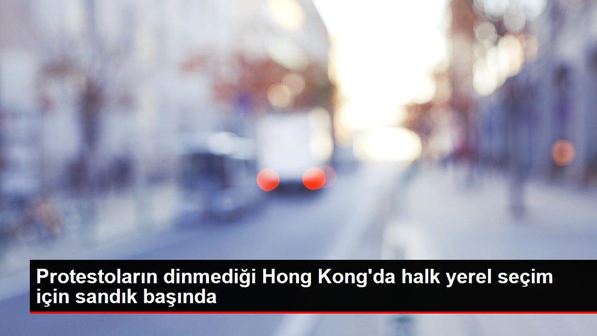 Protestoların dinmediği Hong Kong'da halk yerel seçim için sandık başında