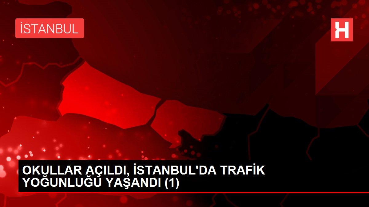 OKULLAR AÇILDI, İSTANBUL'DA TRAFİK YOĞUNLUĞU YAŞANDI (1)