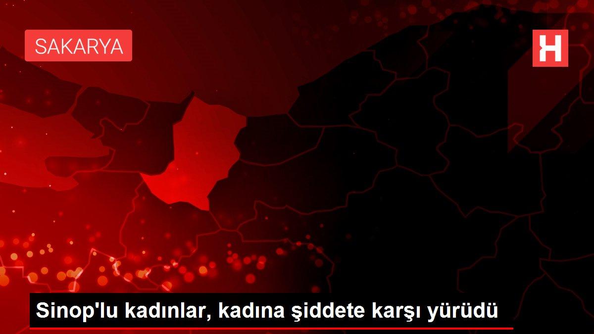 Sinop'lu kadınlar, kadına şiddete karşı yürüdü