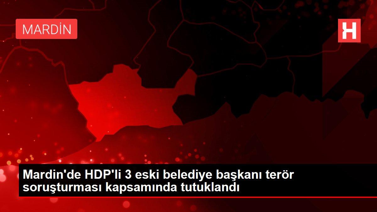 Mardin'de HDP'li 3 eski belediye başkanı terör soruşturması kapsamında tutuklandı