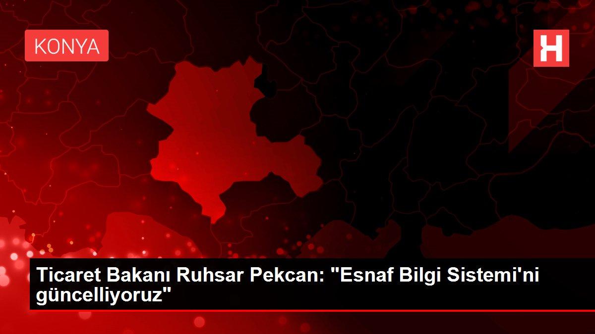 Ticaret Bakanı Ruhsar Pekcan: 'Esnaf Bilgi Sistemi'ni güncelliyoruz'