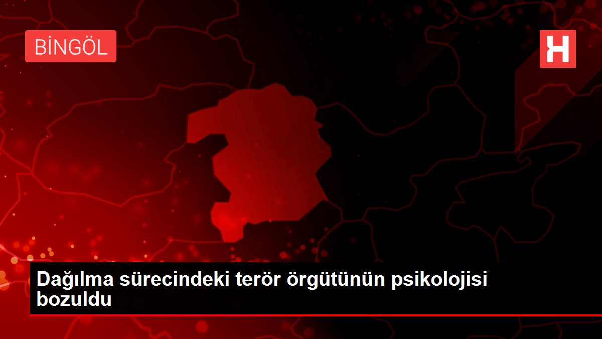 Dağılma sürecindeki terör örgütünün psikolojisi bozuldu