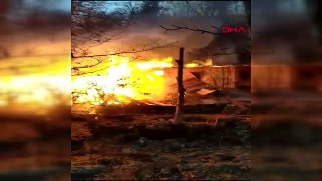 Artvin'de 2 ev yandı