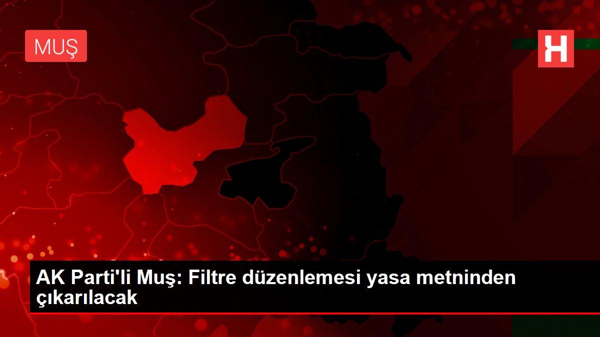 AK Parti'li Muş: Filtre düzenlemesi yasa metninden çıkarılacak