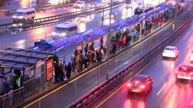 İstanbul'da yağmur ve soğuk