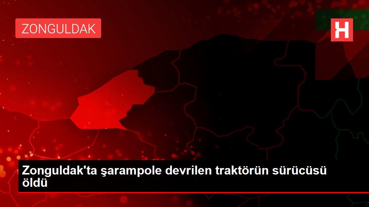 Zonguldak'ta şarampole devrilen traktörün sürücüsü öldü