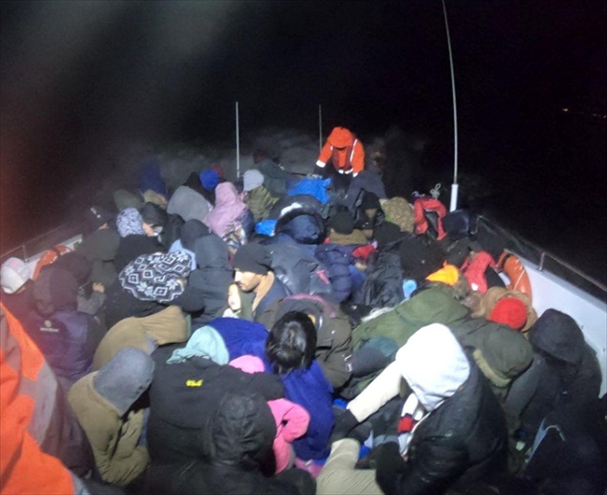 Çanakkale'de 111 düzensiz göçmen yakalandı