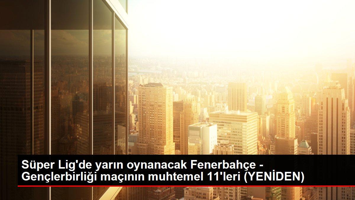 Süper Lig'de yarın oynanacak Fenerbahçe - Gençlerbirliği maçının muhtemel 11'leri (YENİDEN)
