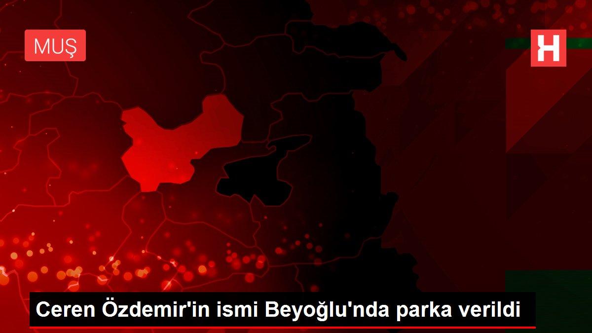 Ceren Özdemir'in ismi Beyoğlu'nda parka verildi