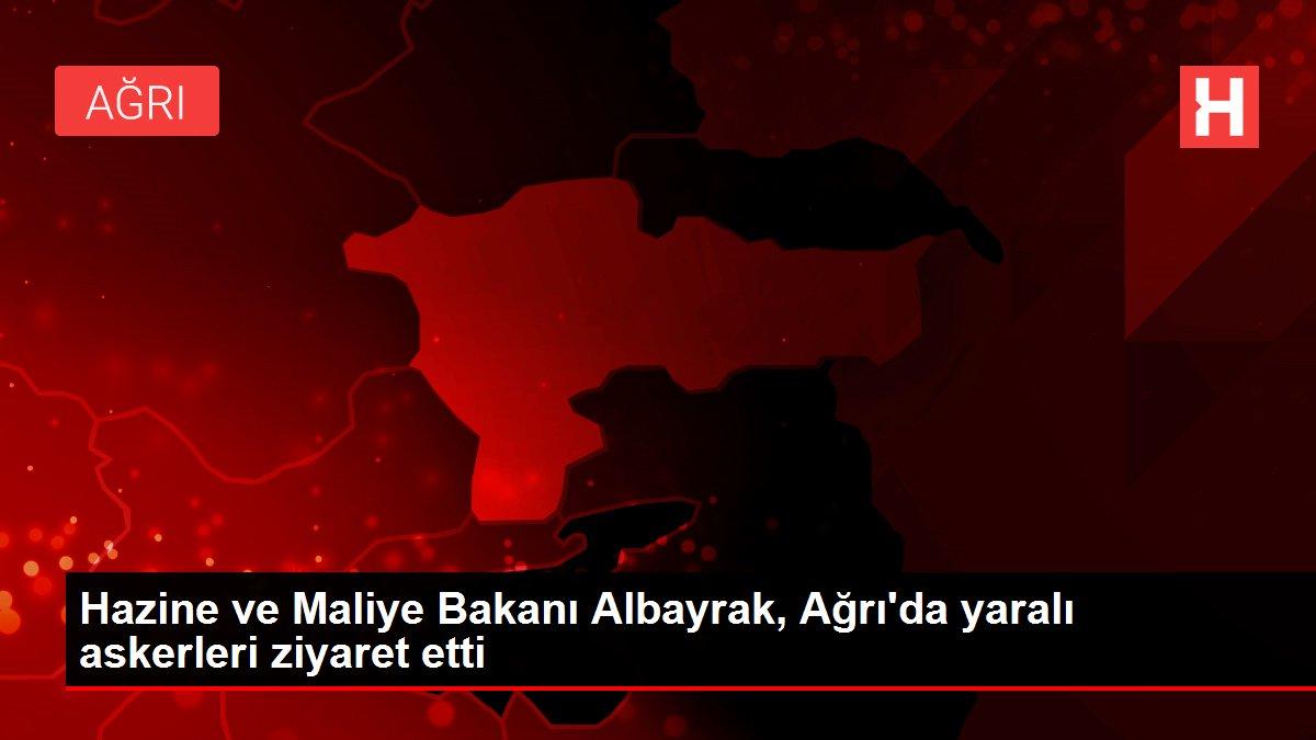 Hazine ve Maliye Bakanı Albayrak, Ağrı'da yaralı askerleri ziyaret etti