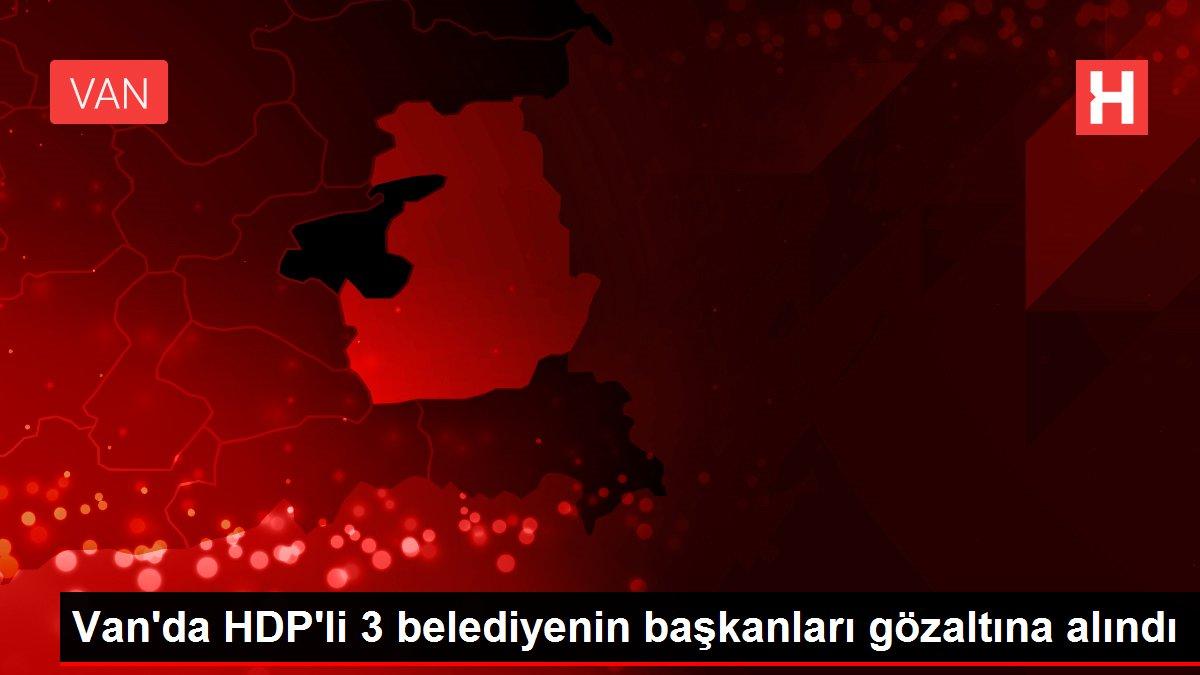 Van'da HDP'li 3 belediyenin başkanları gözaltına alındı