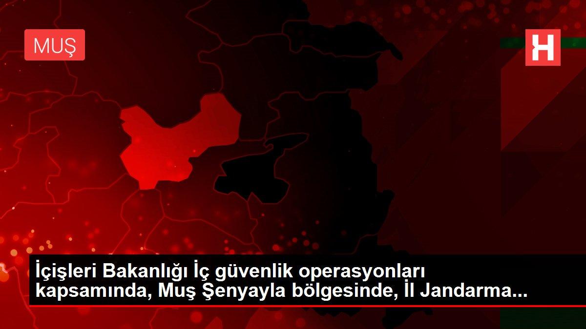İçişleri Bakanlığı İç güvenlik operasyonları kapsamında, Muş Şenyayla bölgesinde, İl Jandarma...